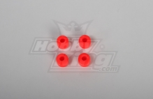 Landing Skid Rubber Nut Orange (dia 7mm) for 8mm Landing Skid (JR, Rapotor, RJX)