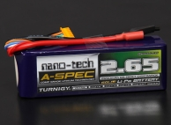 Turnigy nano-tech A-SPEC 2650mah 6S 65~130C Lipo Pack