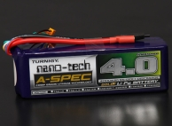 Turnigy nano-tech A-SPEC 4000mah 6S 65~130C Lipo Pack
