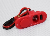 Heavy Duty RX Switch with Charge Port & Fuel Dot Red
