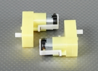 Geared Motor - Offset Shaft (2Pcs/Bag)