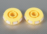 51x17mm Plastic Omni Wheel (2Pcs/Bag)