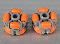 40x28mm Plastic Omni Wheel (2Pcs/Bag)