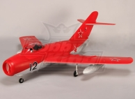 Mig-15 EDF Jet 70mm Electric Retracts, Flaps, Airbrake, EPO Red (PNF)