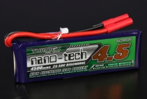 Turnigy nano-tech 4500mAh 2S 25~50C Lipo Pack