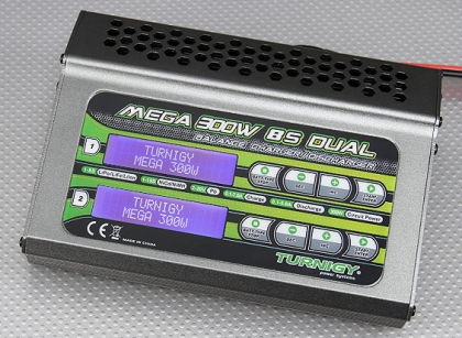 Turnigy Mega 300w 8s Balance Charger/Discharger (150w x 2)